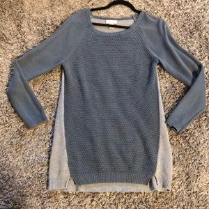 FREE with purchase Loft blue grey tunic sweater M